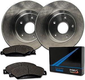 Max Brakes Front Premium Brake Kit [ OE Series Rotors + Metallic Pads ] TA128341 | Fits: 2009 09 Hyundai Genesis 3.8L