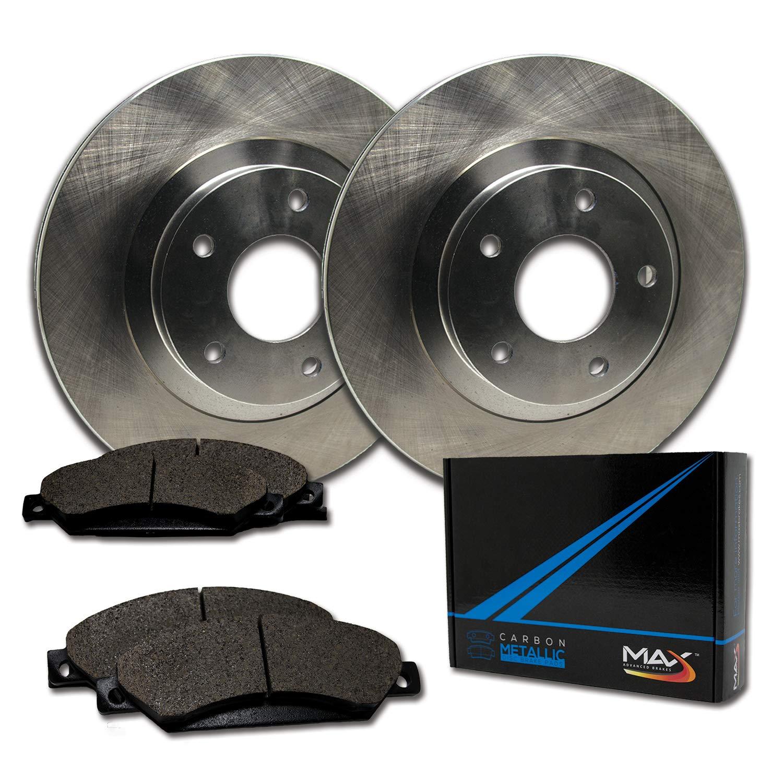 Fits: 2004 04 2005 05 Dodge Ram 1500 2WD//4WD Models TA031841 Max Brakes Front Premium Brake Kit OE Series Rotors + Metallic Pads