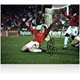 Ole Gunnar Solskjaer Signed Manchester United Photograph: Champions League Winner