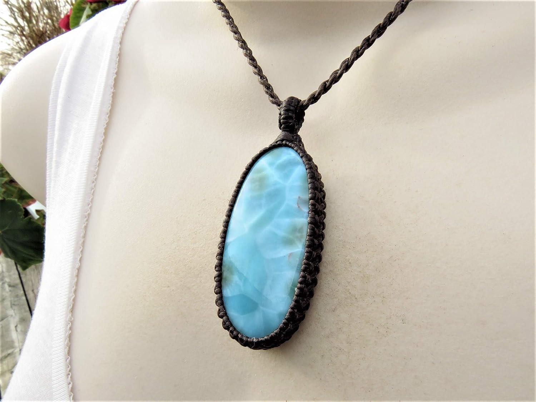 Striking Larimar Cabochon \u2013 Metaphysical Larimar \u2013 Blue Stone Jewelry \u2013 Dominican Republic Larimar \u2013 Jewelry Makings