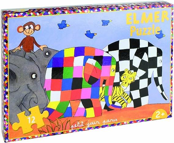 Jigsaw Puzzle - 12 Piezas - Elmer: Elmer y sus amigos: Amazon.es: Bebé