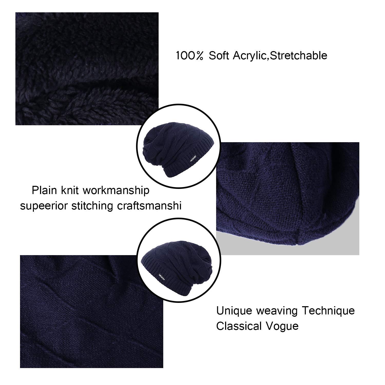 Aibrou Sombrero de Invierno Gorro Invierno Hombre Sombreros para Mujer Gorro de Punto Invierno Caliente Tejido Unisex