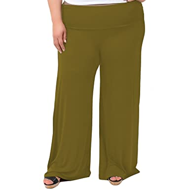 Stretch Is Comfort Womens Plus Size Palazzo Pants At Amazon Womens