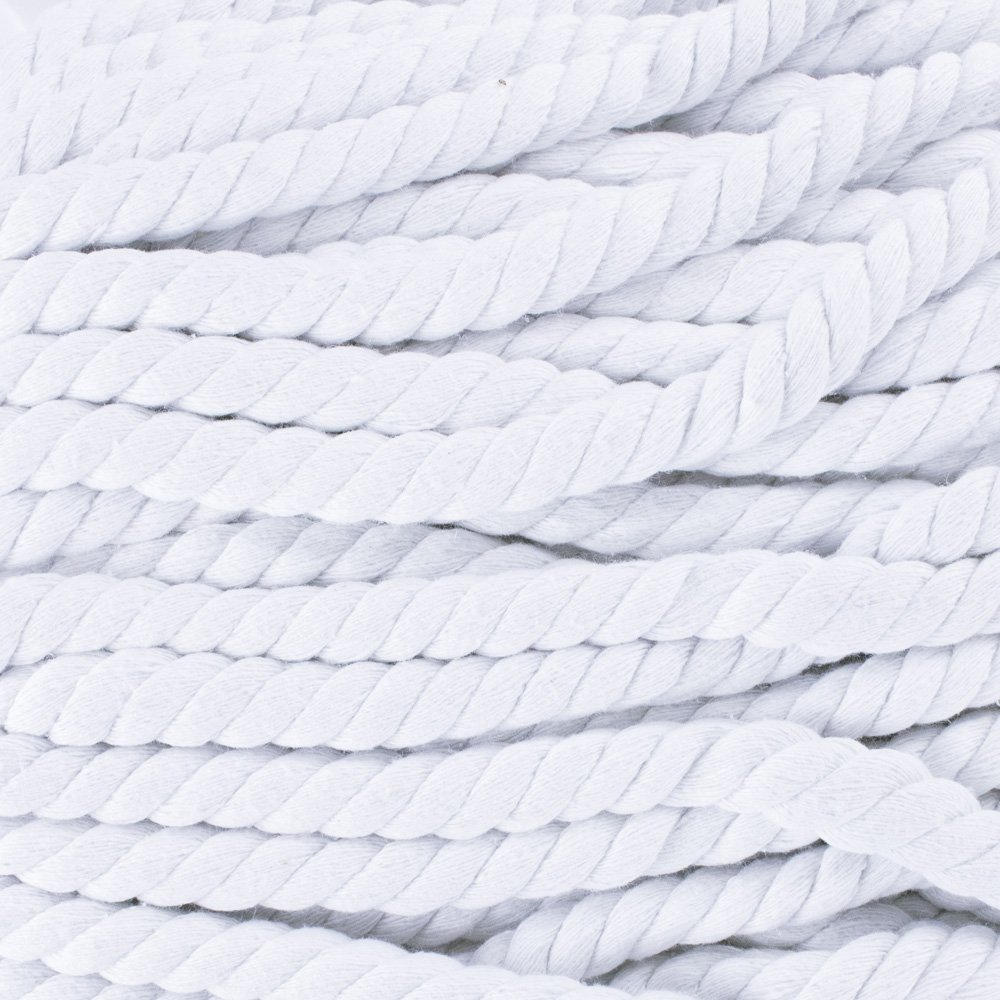 West Coast Paracord Super Soft Colored Twisted Cotton Rope - Available in 1/4'', 1/2'', 3/16'', 3/4'', 11/16'', 5/8'', 3/8'', 5/16'', 7/32'' - Rope by the Foot in 10 ft, 25 ft, 50 ft, & 100 ft