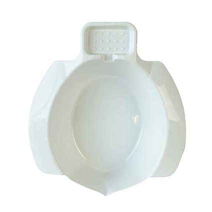 Queraltó - Bidet Portatil Acoplable al Inodoro, Blanco, 9 x 25 x 5 cm