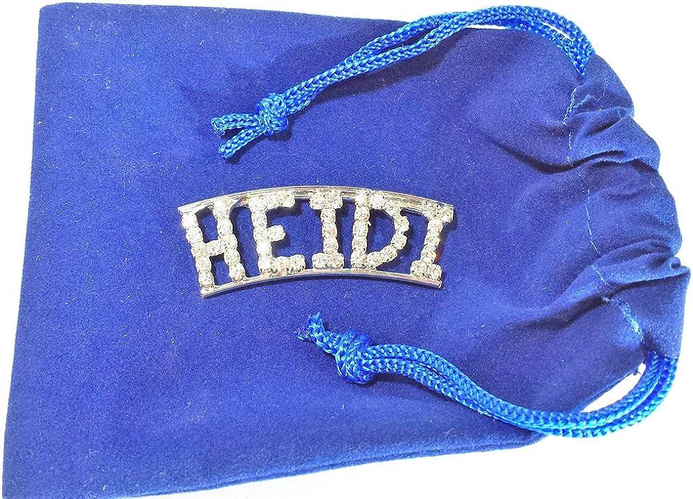 Detti Originals Personalized Rhinestone Heidi Name pin