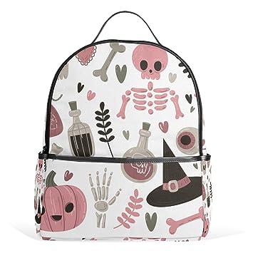 Amazon Com Lovely Halloween Skull Backpack For Women Girls Kids