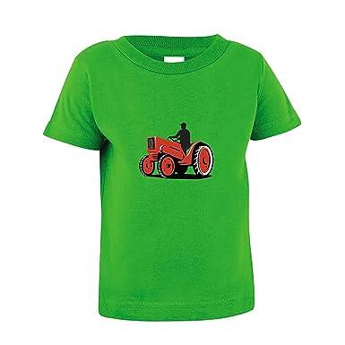 66d3ec0c Amazon.com: Michael Trollpoe Driving Red Tractor Toddler Baby Kid T ...