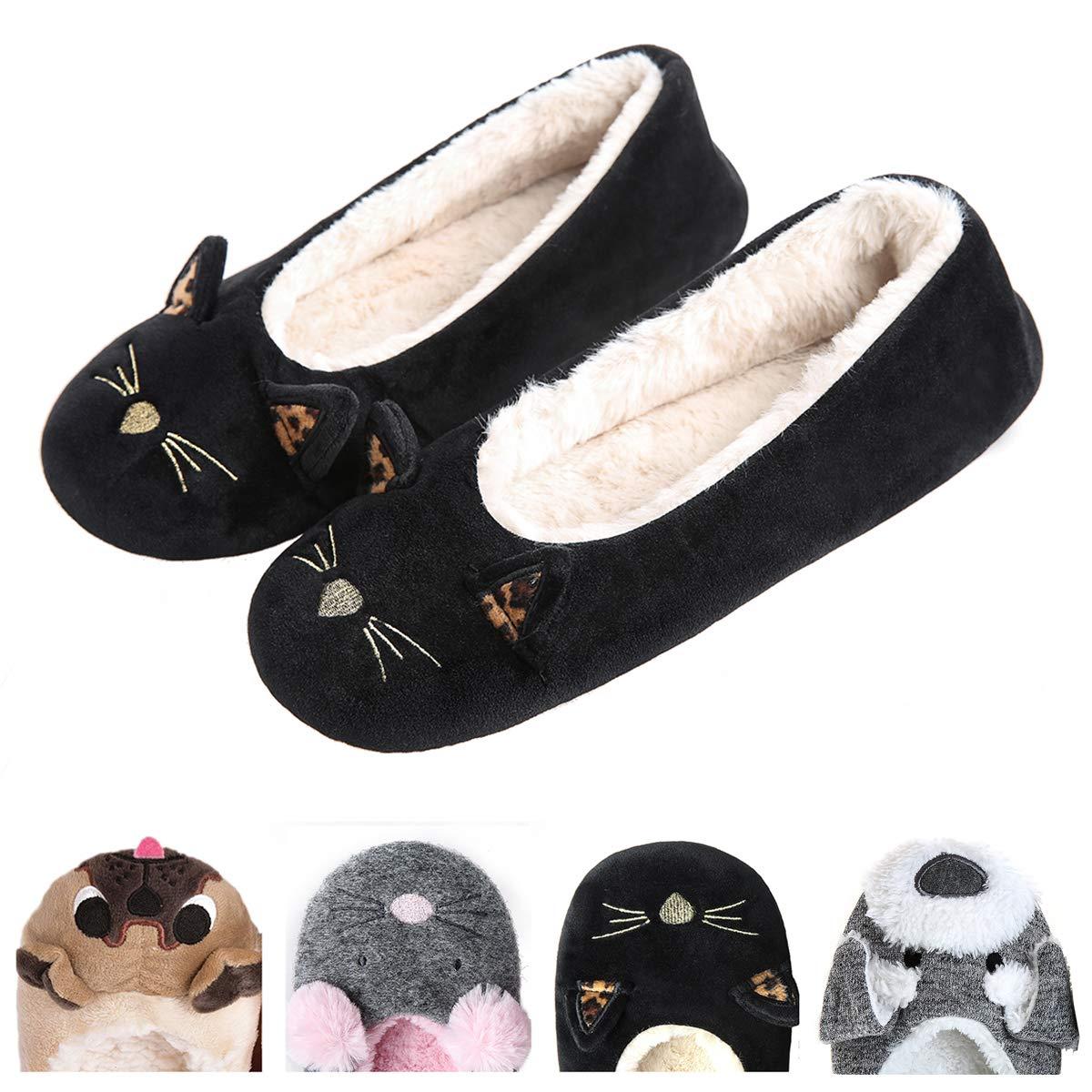 Women's Plush Winter Warm Animal Soft Cute Home Slippers Dog XZ-HMXX018