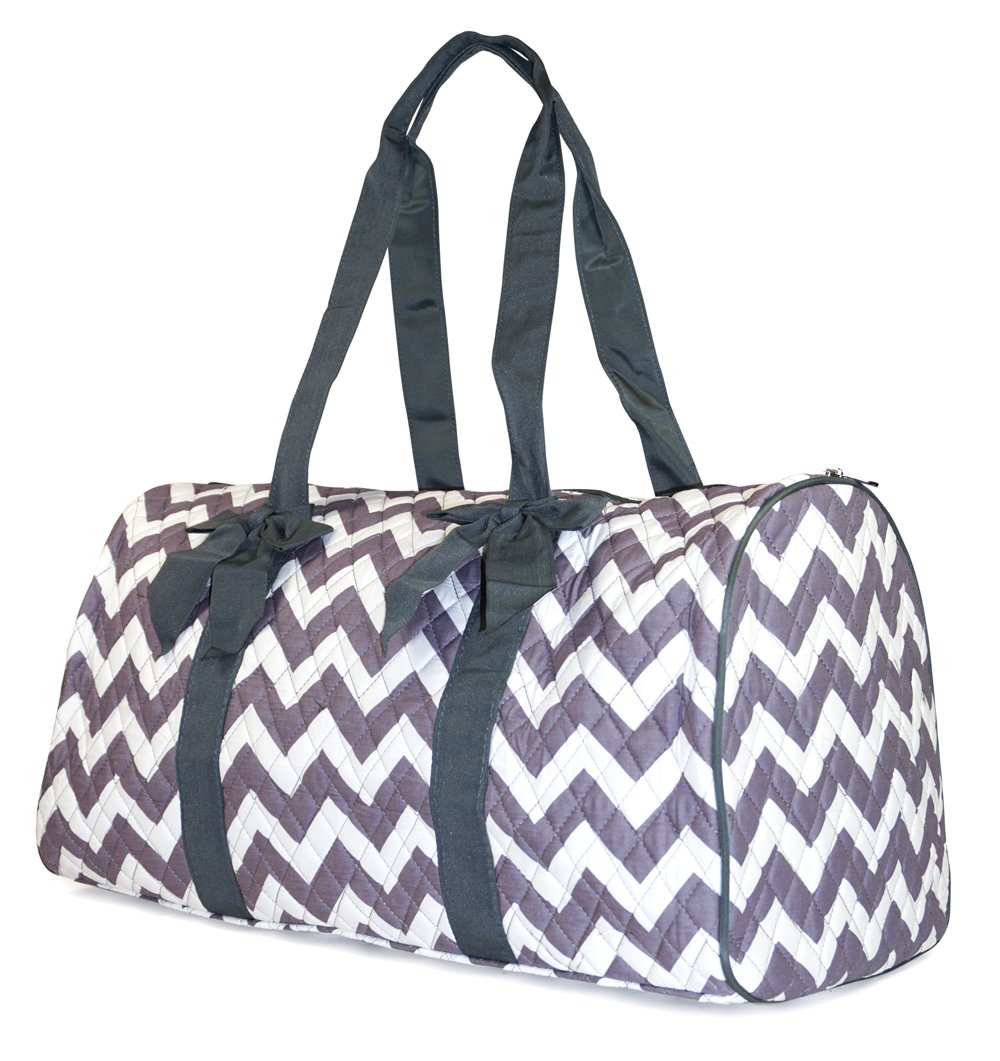 NGIL Chevron Quilted Duffle Bag (Grey)