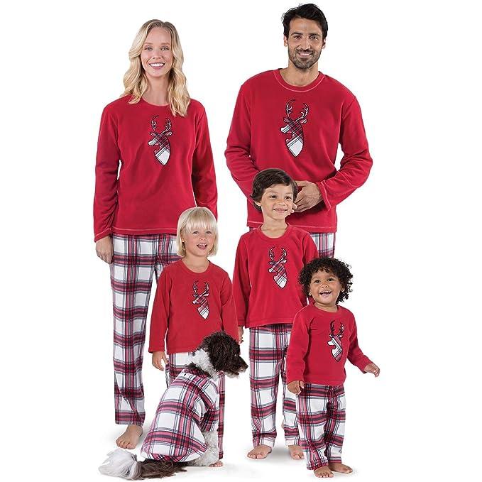 Conjuntos De Pijamas A Juego De La Familia De Navidad De Color Rojo