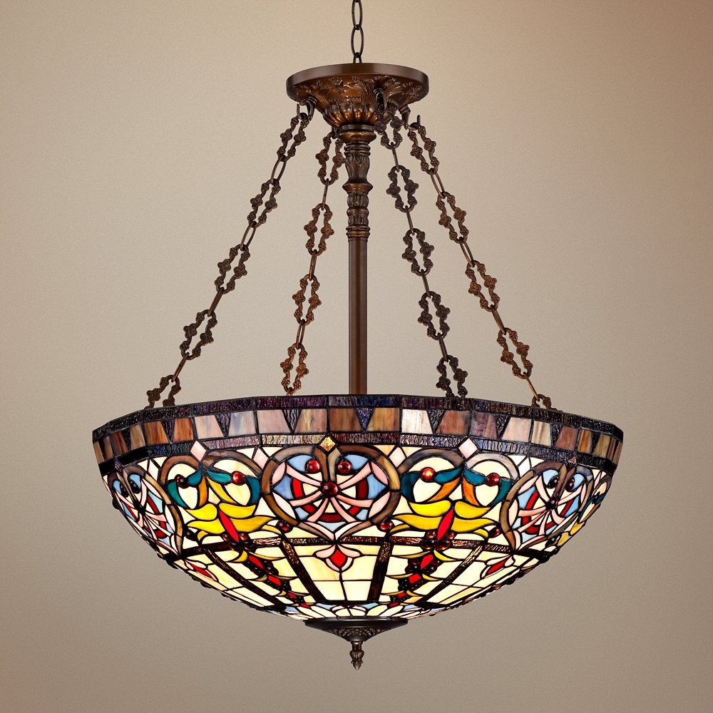 Ornamental tiffany style 24 wide art glass pendant light ornamental tiffany style 24 wide art glass pendant light tiffany style glass chandelier amazon aloadofball Gallery
