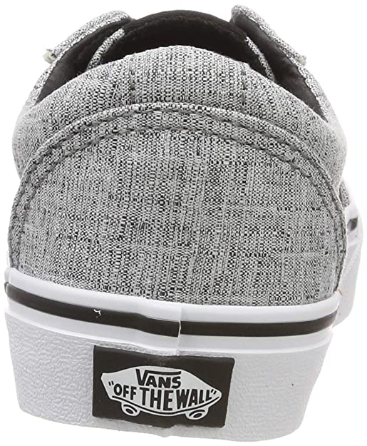 4b3301789283a Amazon.com: Vans Kids Boys Ward Gs Fabric Low Top Lace Up, Grey ...