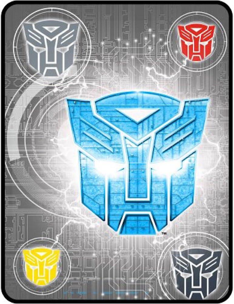 "Hasbro Inc. Transformers 5 Plush Throw Blanket - 46"" x 60"""