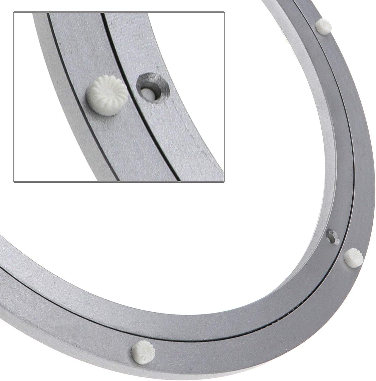 pour Salle /à Manger Table Plate-Forme Displays,30cm//12inch Ckssyao Muet Roulement pivotant Turntable Ronde en Alliage daluminium Lisse Plaque pivotante Plateau