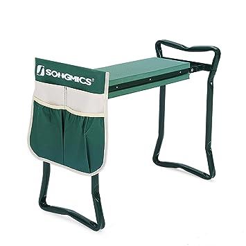 Amazoncom SONGMICS Garden Kneeler Bench with EVA Kneeling Pad