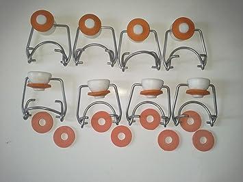 Takestop® - Juego de 8 unidades de tapones mecánicos con juntas, ideales