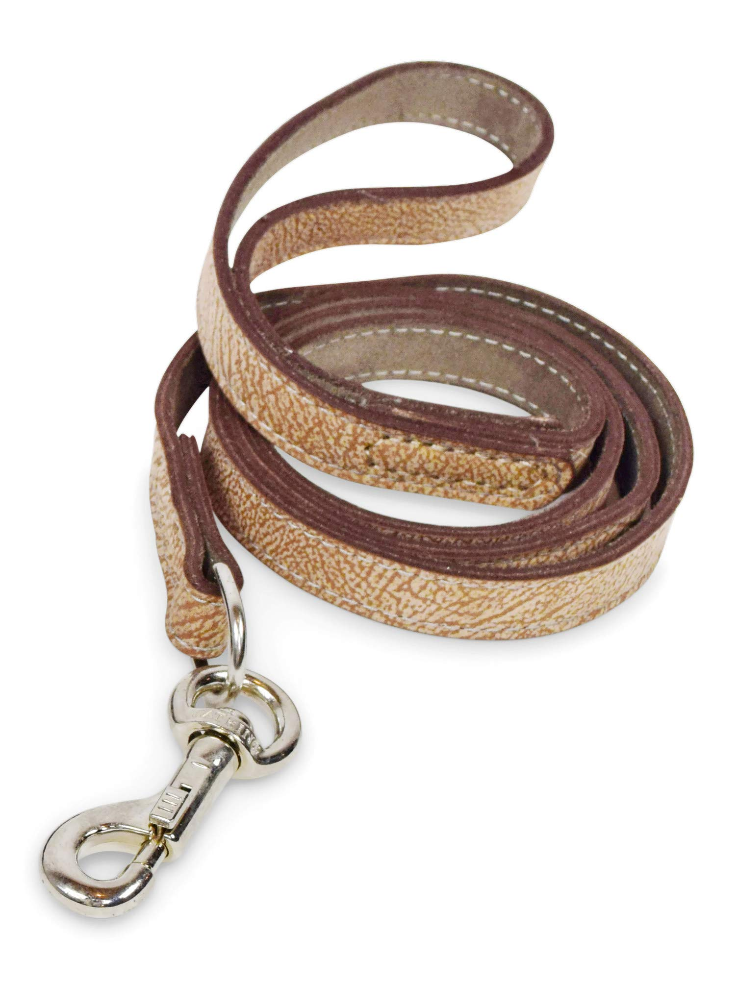 Mighty Paw Leather Dog Leash, Super Soft Distressed Leather- Premium Quality, Modern Stylish Look by Mighty Paw