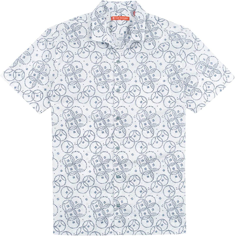 Tori Richard Hoopla Standard Fit Camp Shirt White