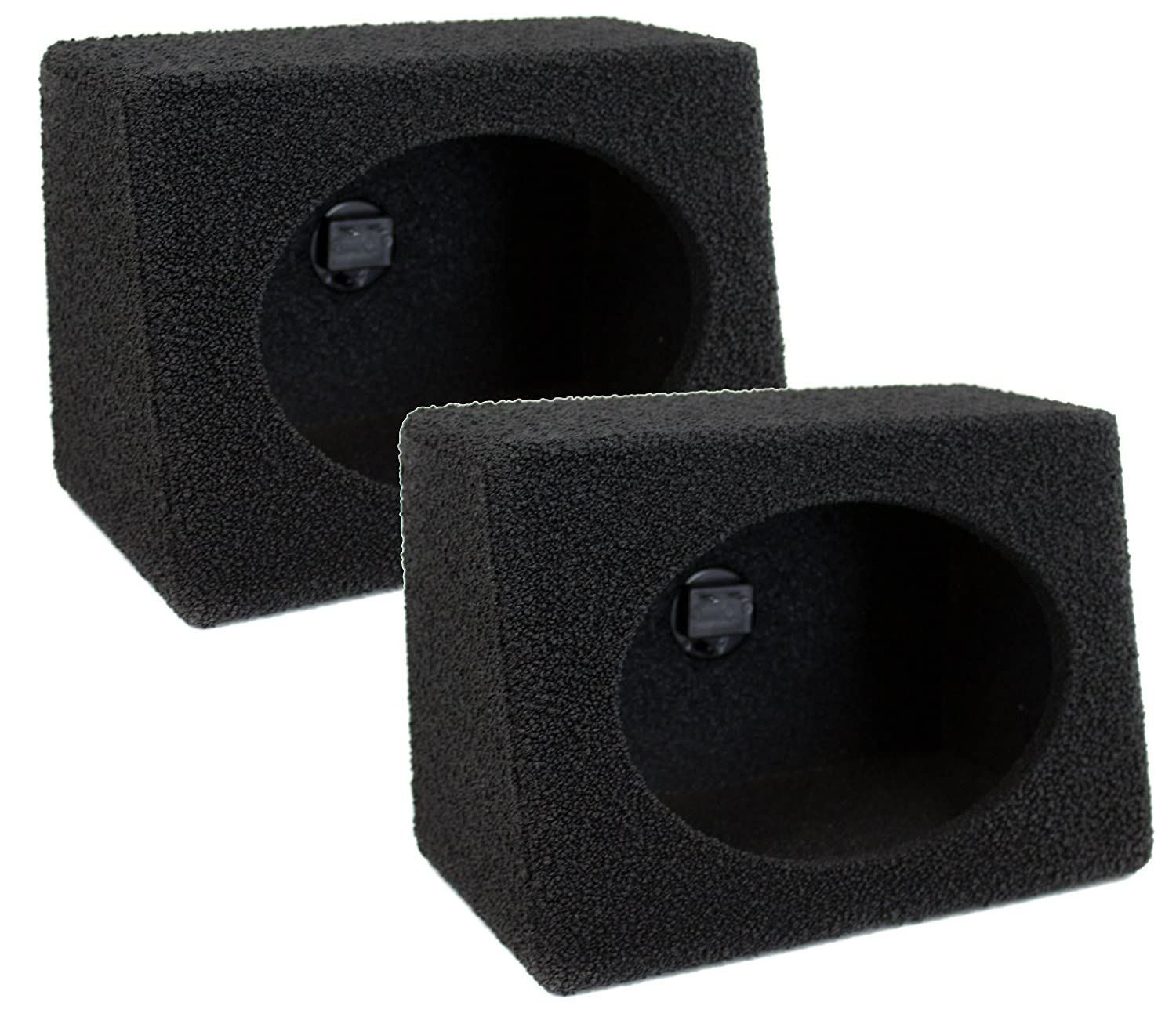Q Power QBTW6X9 Single 6 x 9 Inches Speaker Boxes with Durable Bed Liner Spray