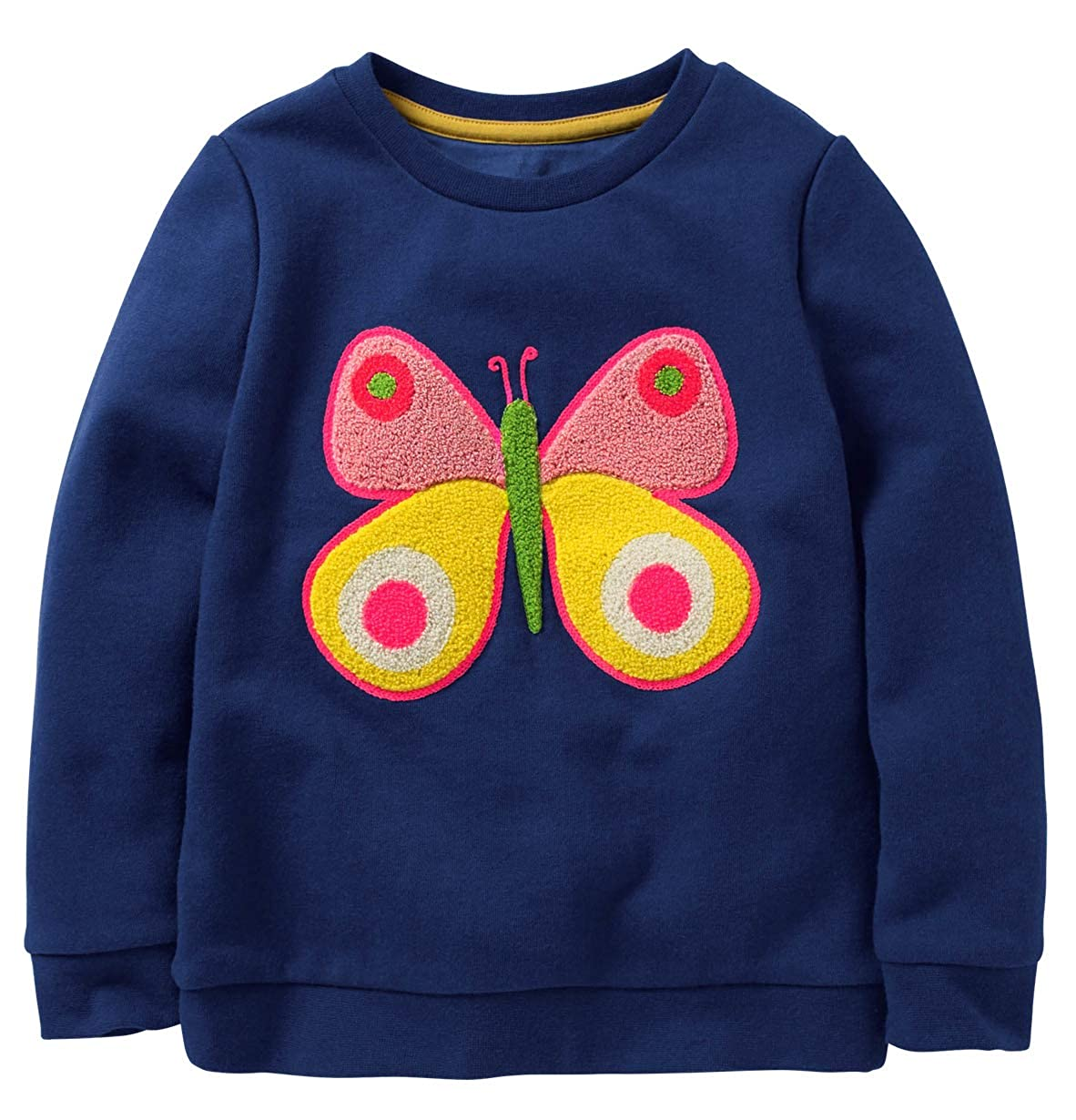 Fiream Girls Cotton Crewneck Cute Embroidery Sweatshirts TZwy070