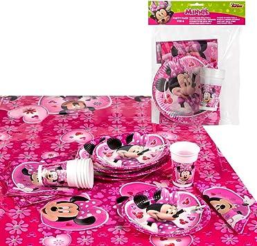 Disney - Pack de fiesta reciclable Minnie: mantel, platos, vasos ...