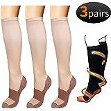 3/6 Pack Copper Knee High Compression Support Socks For Women and Men - Best Medical, Nursing