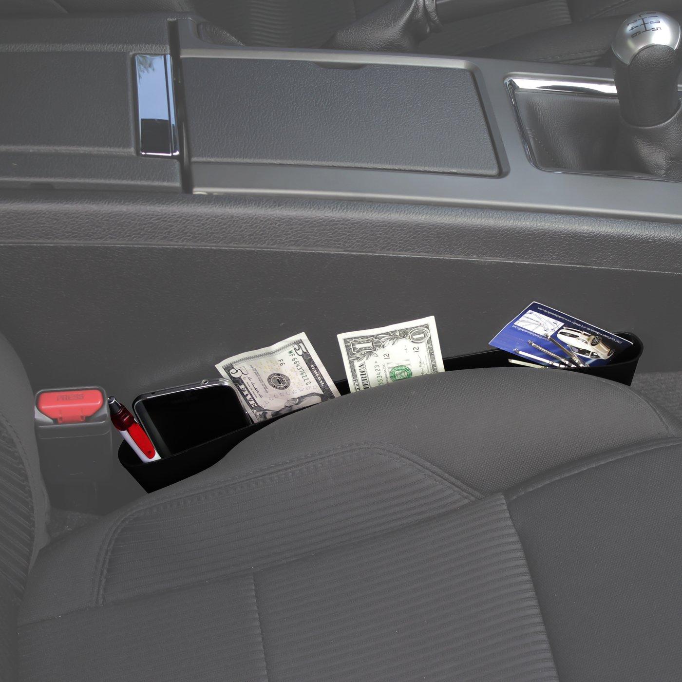 OxGord Auto Caddy Slit Pocket Gap Organizer Side Car Seat Tray Box Space Console for Van Truck SUV