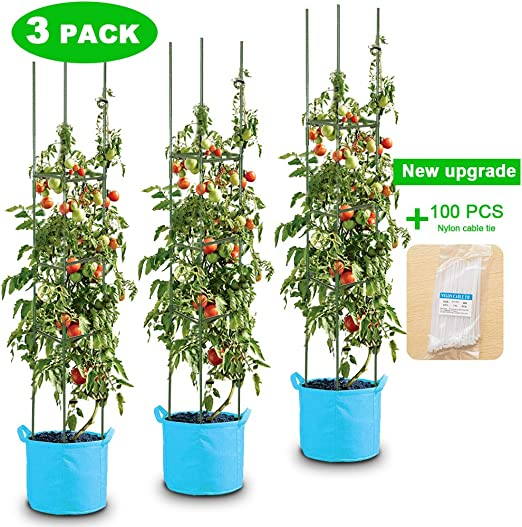 KINGLAKE Bridas Ajustables para Plantas 100 Unidades, 13 cm