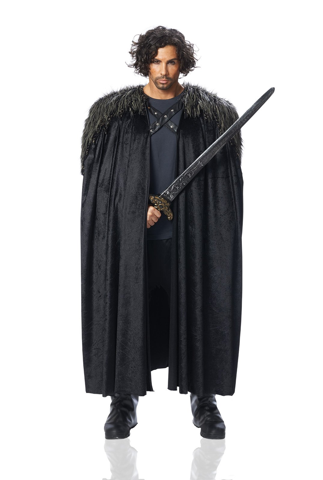 Costume-Culture-Mens-Big-Medieval-Cape-Adult-Deluxe