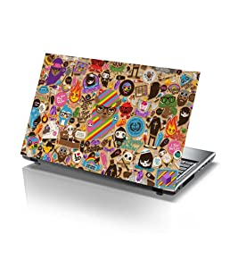 PIXELARTZ Laptop Skin - Colourfull Background - Stickers - HD Quality - 14.1 Inches - Dell-Lenovo-Acer-HP -Sony