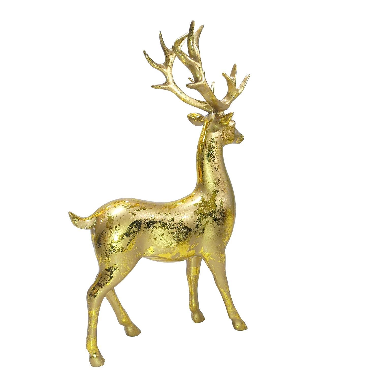 Amazon.com: MuseArts Collection Resin Deer Reindeer Figurines Statue ...