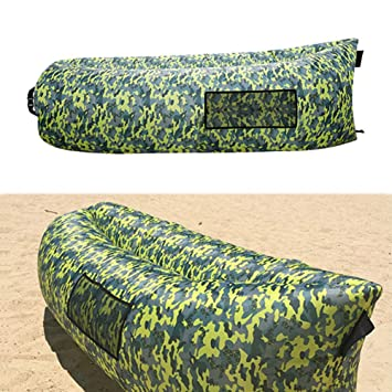 TZTED Sofá Inflable Cama Hinchable Tumbona con el Paquete Portable ...