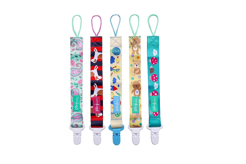 Clips de chupete, 5 piezas Soporte de chupete para niñas y niños Se adapta a la mayoría de los estilos de chupetes y juguetes para la dentición y ...