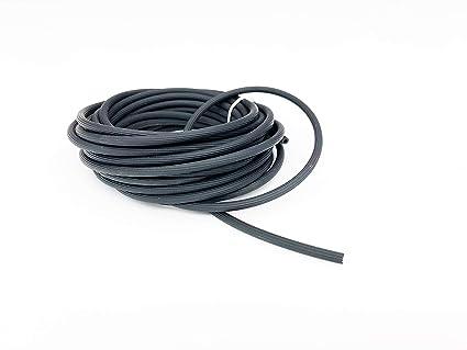 Tubo de goma para mosquitera de ventana o puerta – diámetro 5 mm, color negro