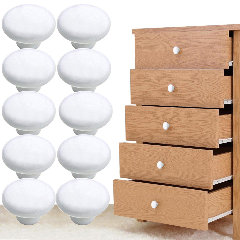 10 piezas Pomos y Tiradores Muebles, Gosear Manillones de Cerámica ...