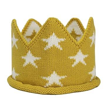 Amazon.com  HUELE 2 pcs Star Knit Crown Birthday Hairband Hat 1st 2nd Baby  Boys 806ded0e2d0