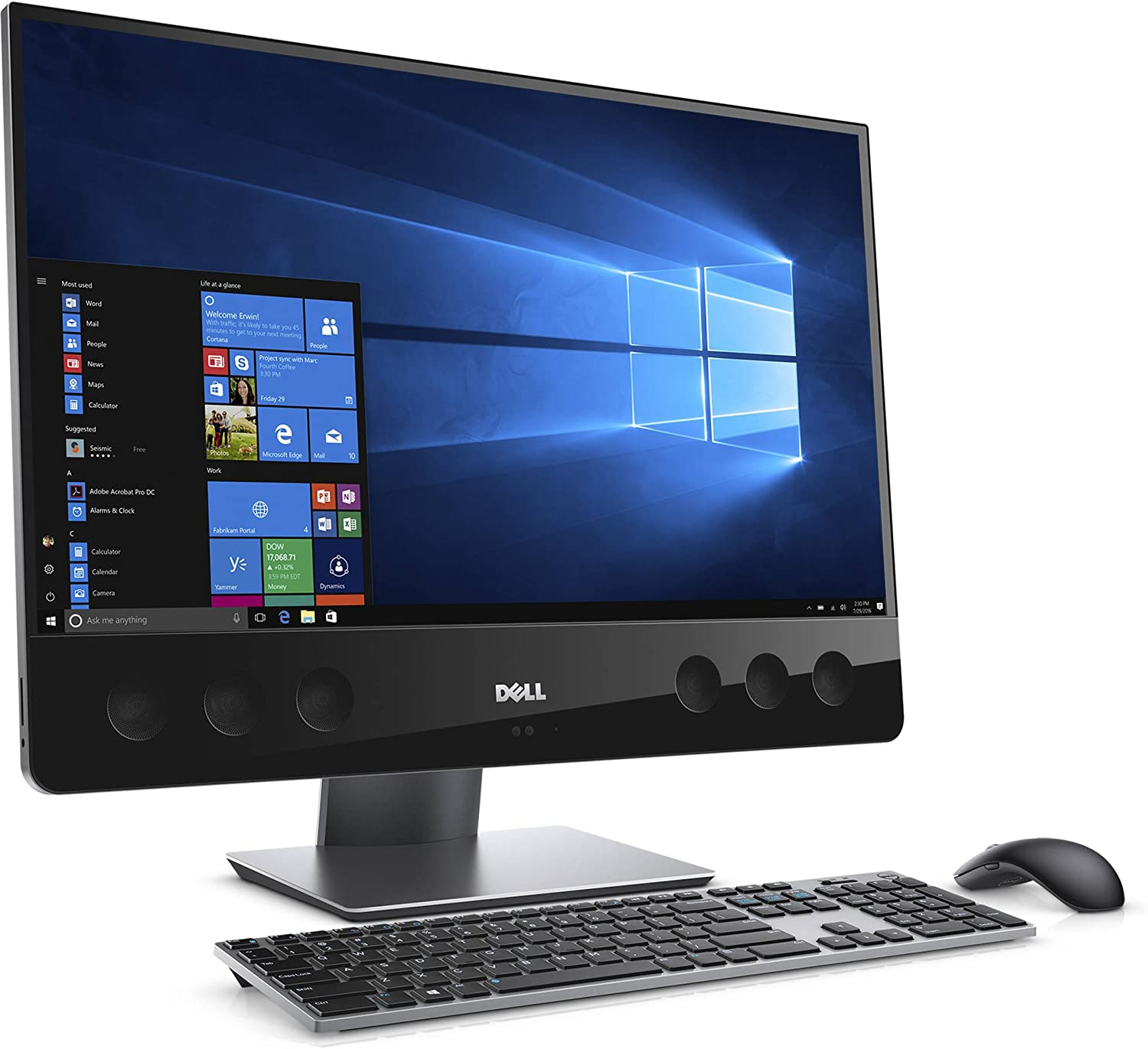 Dell XPS 27-7760 All-in-One Desktop PC - 27in UHD Display - Intel Core i7-7700 3.6GHz, 16GB DDR4, 2TB HDD + 32GB SSD, Windows 10 Home (Renewed)