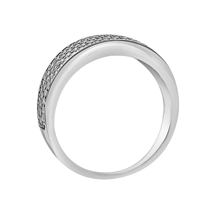Carissima Gold Cubic Zirconia Pave Set Tapered Ring AVhZpEKgw