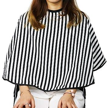 Amazon Huele Striped Short Hair Salon Cutting Cape Professional
