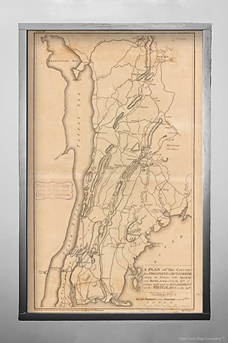Map Of New York 1776.Amazon Com 1776 Map New York Westchester White Plains A Plan Of The