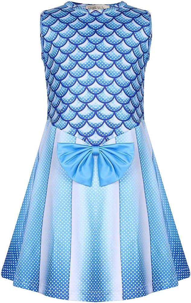 WOW Toddler Kids Summer Girls Dress Mermaid Birthday Gift Party Princess Dance Casual