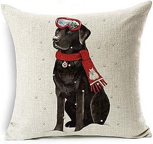 LYNZYM Cotton Linen Sofa Pillowcover Decorative Cushion Cover 18
