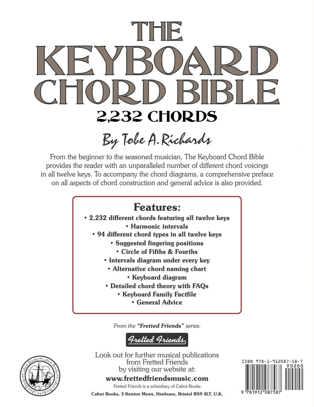 The Keyboard Chord Bible: 2, 232 Chords (Fretted Friends