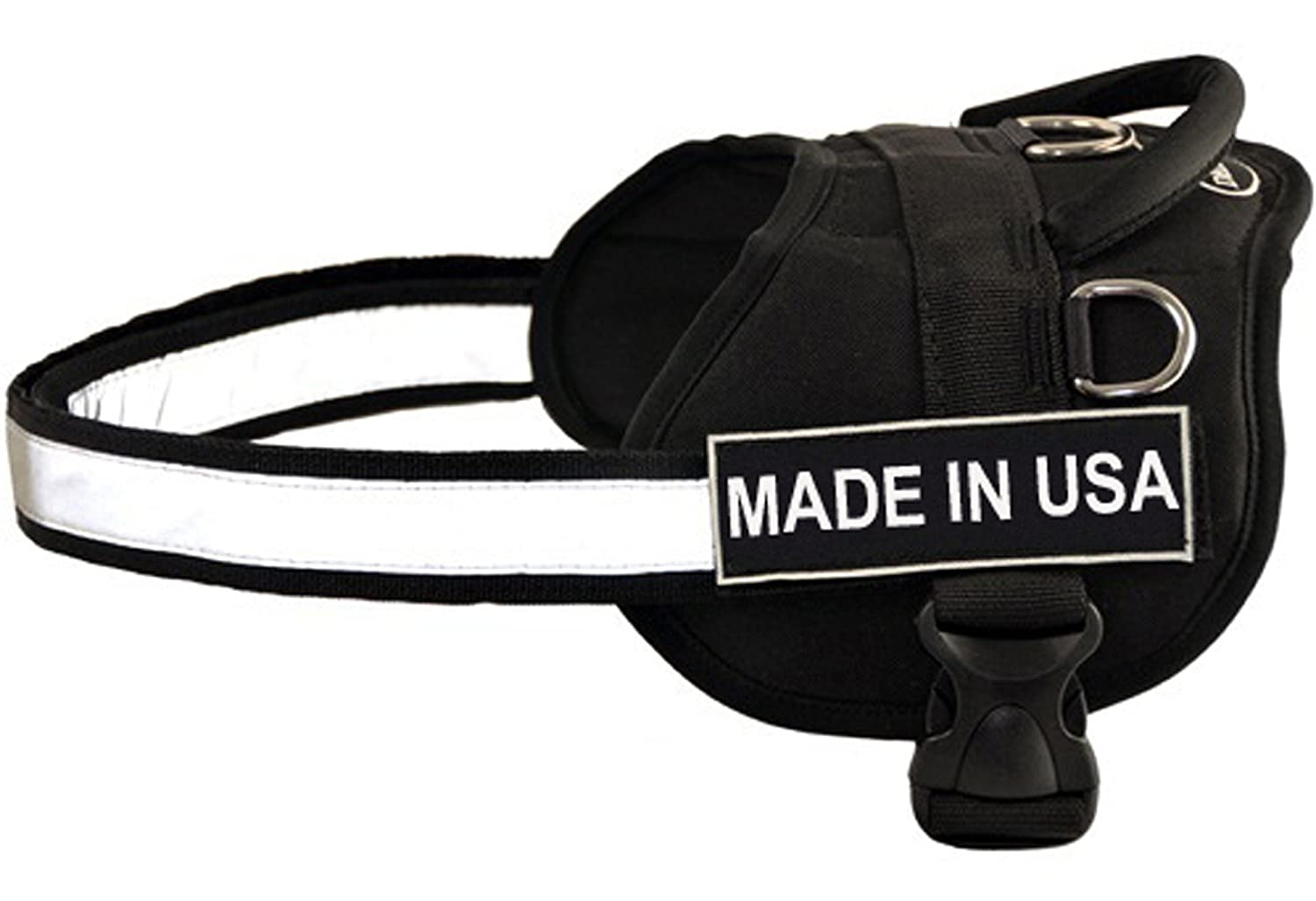 Dean & Tyler D&T WFUN MADEINUSA BK-XXS Works Fun Harness, Made In USA, XX-Small-Fits Girth, 46cm to 53cm, Black White