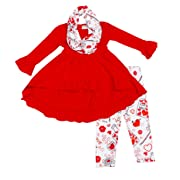 Toddler Little Girls Boutique Clothing Valentine Love Elixir Outfit Set 12-18M /2XS