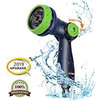 UERMEI Garden Hose Spray Gun, 8-Pattern Multi Spray Watering Gun High Pressure Hose Nozzle Thumb Switch Sprayer Perfect for Lawn/Garden Watering, Car Washing, Pet Showering and Sidewalk Cleaning