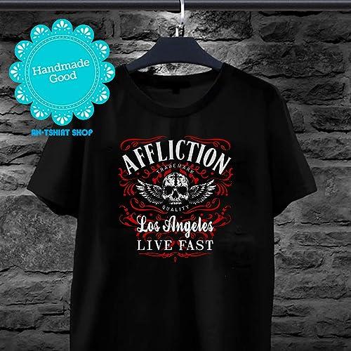 f7f7493da Amazon.com  Los Angeles Live Fast Affliction T shirts for biker  Handmade