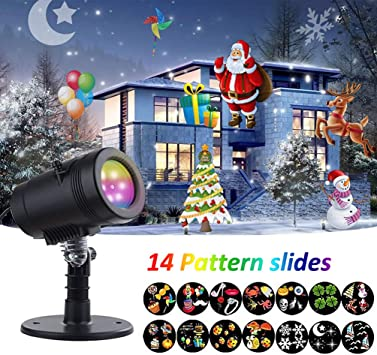 Amazon.com: Luces LED para proyector impermeables, 14 ...