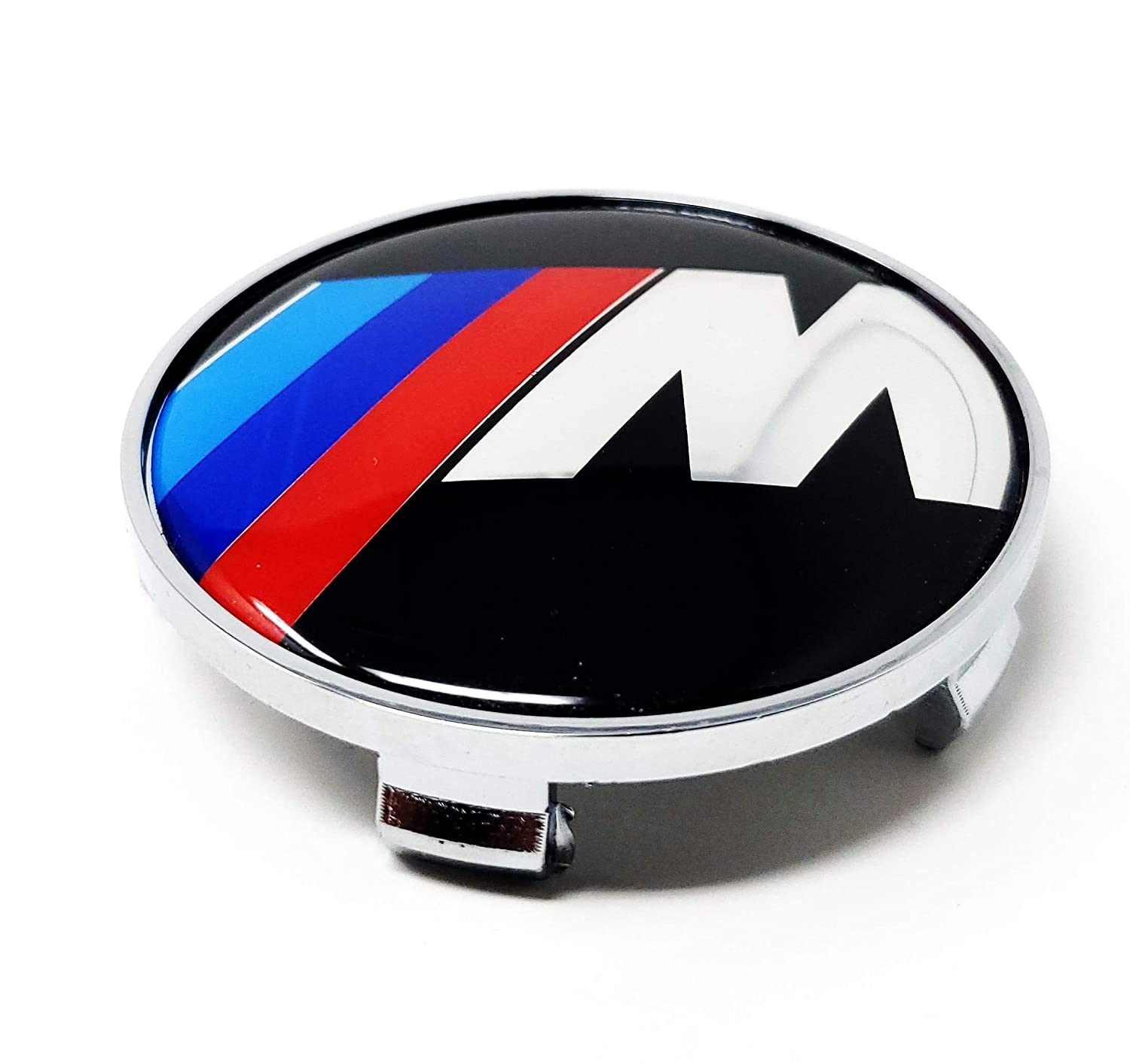 DMD 68.5MM Black Red M Center Cap 4 Pieces Set Wheel Rim Mags Tire Hub Hubcap Full Piece ABS Cover Universal Tuning Mod Logo Badge Emblem Fit for 3 4 5 6 7 Series M X etc